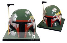 Boba Fett cake - my birthday is in 6-months. Can anyone figure out how to make this for me?!? :D
