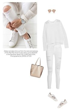 """""""Untitled #346"""" by piccolamarisa ❤ liked on Polyvore featuring Frame Denim, rag & bone, adidas Originals, Neiman Marcus, Kershaw and Christian Dior"""
