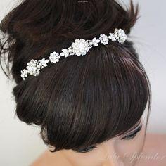 Pearl+Bridal+Headband+Ivory+Pearl+Rhinestone+tiara+by+LuluSplendor,+$169.00
