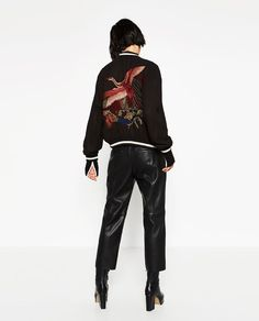 Image 7 of EMBROIDERED REVERSIBLE BOMBER JACKET from Zara