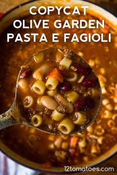 Copycat Olive Garden Pasta e Fagioli Dinner Pasta – Dinner Recipes Easy Soup Recipes, Crockpot Recipes, Great Recipes, Cooking Recipes, Rump Roast Recipes, Recipes Dinner, Drink Recipes, Holiday Recipes, Cooking Tips