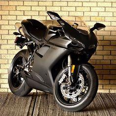 The Dark Knight Courtesy of: Ducati Society #ducatistagram  #ducati #848evo…