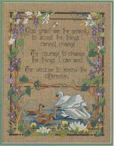 Cross Stitch Sampler Kit Prayer For Serenity in  Donna's Stuff & More on Etsy