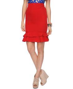 $22.80...Flounce Pencil Skirt | FOREVER21 - 2000036753