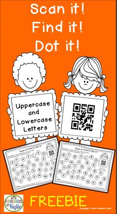 Freebie.  Letters using QR Codes.  Grades: PreK, Kinders, Homeschool.