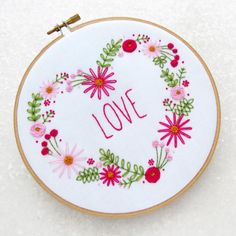 All you need #love #embroidery #diychristmas #embroiderykit