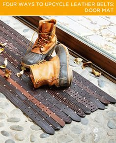 Four Ways To Upcycle Leather Belts - Don't throw away those old, tattered belts.