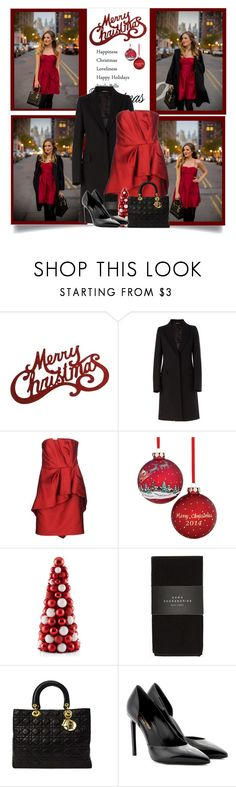 """""""Have Yourself A Merry Little Christmas"""" by malinda108 ❤ liked on Polyvore featuring Maison Margiela, Alberta Ferretti, Holiday Lane, Zara, Christian Dior, Yves Saint Laurent, Christmasoutfit and galmeetsglam"""