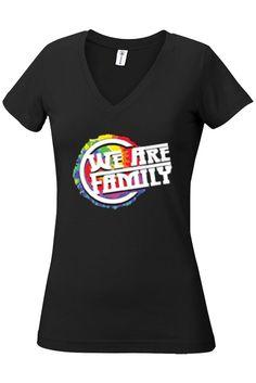 """Pride """"We Are Family"""" - Junior Medium V-Neck Tee"""