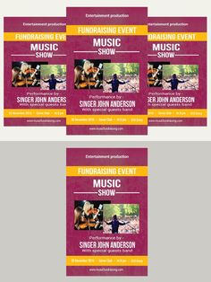Charity Fundraisers Flyer Templates Flyer Templates  Flyer
