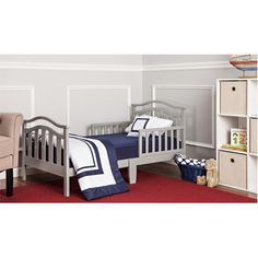 Dream On Me/Mia Moda Elora Toddler Bed with Safety Rails & Reviews | Wayfair