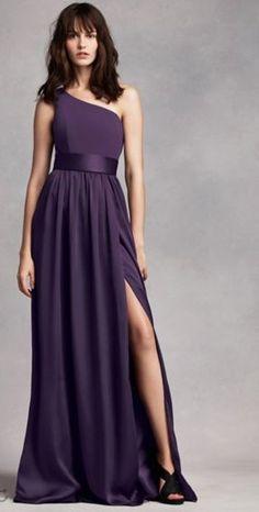 Vera Wang, amethyst, bridesmaid dress for jewel toned wedding