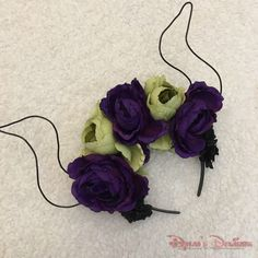 Maleficent Inspired Floral Wire Ears by DylansDisDesigns on Etsy https://www.etsy.com/listing/275522464/maleficent-inspired-floral-wire-ears