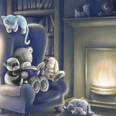 My first book cover! Featuring Tatty Teddy and his Blue Nose Friends, this was painted for the first 'My Blue Nose Friends' book (that also came with a . Tatty Teddy, Bear Pictures, Cute Pictures, Teddy Pictures, Blue Nose Friends, Bear Graphic, Friend Book, Friends Image, Cute Teddy Bears