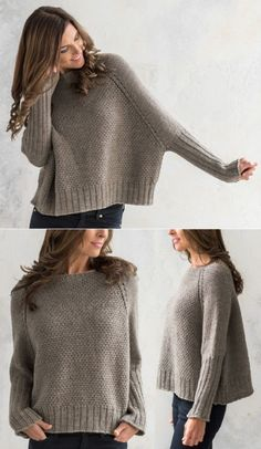 Hand Knitted Sweaters, Knitted Poncho, Knitted Hats, Knitwear Fashion, Knit Fashion, Crochet Clothes, Diy Clothes, Knitting Paterns, Vogue Knitting