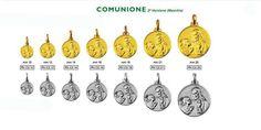 Medaglia realizzabile in argento ed in oro a ricordo della prima Comunione