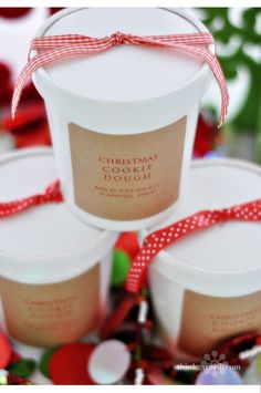Christmas cookie dough. Such a cute gift idea!