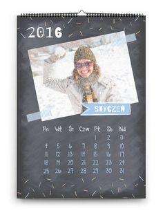 Proste szablony fotokalendarzy, które możesz uzupełnić o ulubione zdjęcia lub grafiki. Zaprojektuj i zamów na makemybook.pl