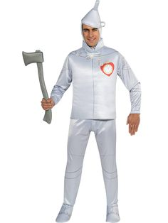 This Tin Man costume can be paired with our Dorothy costume for a fun couples look this Halloween. Get this official licensed Tin Man costume. Tin Man Halloween Costume, Tin Man Costumes, Group Costumes, Adult Costumes, Costumes For Women, Adult Halloween, Halloween 2020, Halloween Ideas, Halloween Clothes