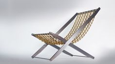The Chain Reaction Chair x x / Polished steel & brass Outdoor Chairs, Outdoor Furniture, Outdoor Decor, Chain Reaction, Brass, Steel, Collection, Home Decor, Products