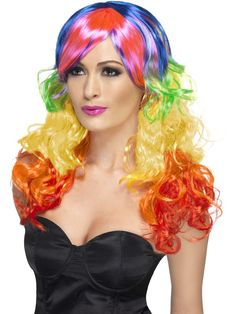 Looking for Rainbow Curl Wig,Multi-Coloured? Get it from our wholesale Ladies Glamour Wigs range today. Visits Smiffy's wholesale for all your Wigs needs today. Lgbt, Rainbow Wig, Rainbow Theme, Rainbow Dash, Halloween Wigs, Adult Halloween, Colored Wigs, Halloween Costume Accessories, Wigs Online