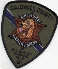 Caldwell County, North Carolina Sheriffs Dept K-9 Unit patch Bloodhound   eBay