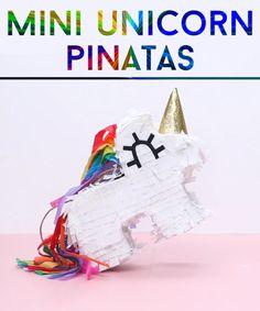 Mini Unicorn Piñatas DIY