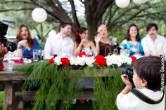 Nature-insprired Mexican sweethearts' table. Mexico wedding by Antonio Saucedo.