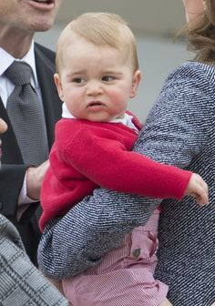 No, I really don't want to talk to you. | Prince George Saved His Best Unimpressed Facial Expressions Until Last