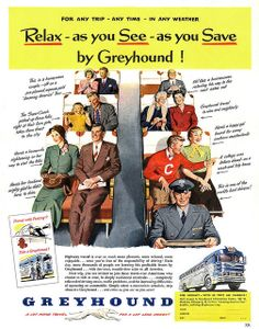1951 Greyhound. Just missing the haze of cigarette smoke and the smell of diesel.