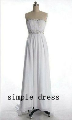 Real A-line Strapless Sleeveless Floor-length Chiffon Beading Long Prom/Evening/Party/Homecoming/Bridesmaid/Formal Dress 2013 New Arrival