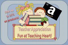 Teacher Appreciation Teaching Heart!  Prizes this week... go see!