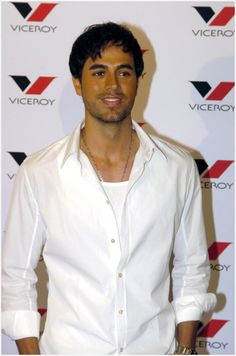 Enrique Iglesias in Madrid, Spain to launch the new VICEROY campaign. March 7, 2005