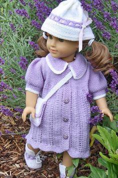 American girl doll  pattern by Maalfrid Gausel, Norway