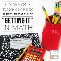 Check out this post for ideas to see if kids are really understanding mathematical concepts.