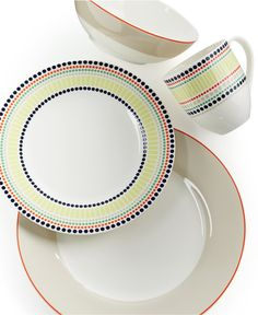 kate spade new york Dinnerware, Hopscotch Drive Taupe Collection - Dinnerware - Dining & Entertaining - Macy's