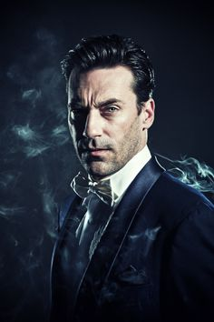 John Hamm by Michael Muller  Love the gangster/Abruzzio look he has going on... and I made Abruzzio a smoker who died of lung cancer so the smoke is perfect.