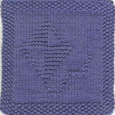 Kite Knit Dishcloth Pattern