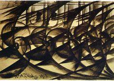 Speeding Car (study).  Abstract Speed., 1913 - Giacomo Balla