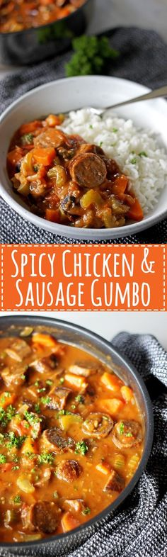 Inspired by my favourite New Orleans dish, this is my take on spicy chicken & sausage gumbo! Easy to make and full of flavour!