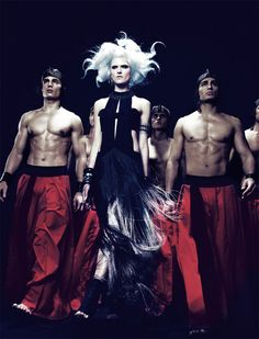 The Throne – The second issue of The Ground Magazine (formerly known as Virgine Magazine), offers up a story of conflict and romance with Seiji Fujimori's high gloss images. Tabea Koebach poses alongside male models Clark Cord Alex Verga, Justin Hileman, Mark Moore, Mike Keute, Ryan Matthews, Jacob Neeley and Peter Gregory while donning spring looks from labels such as Versace, Gucci, Etro and Maison Martin Margiela styled by Christopher Campbell. The struggle for power ends with an unseen…