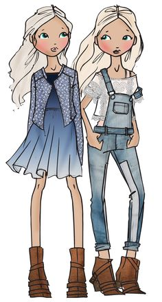 teen girls - denim looks SS14