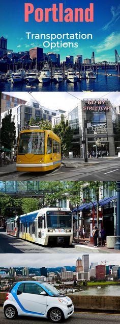 How to get around Portland Oregon, transportation options.
