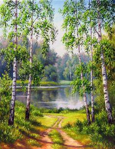 Gallery.ru / Из рощи - Пейзаж. Городской в том числе - Michallna