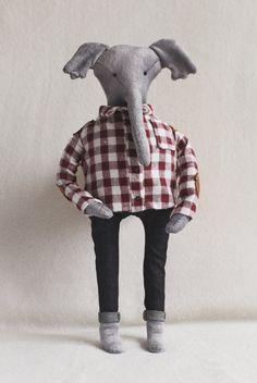 Elephant soft toy by CronyToys on Etsy