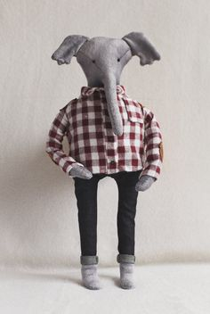 Elephant soft toy by CronyToys on Etsy