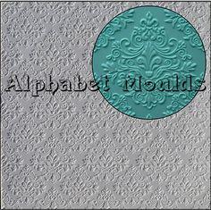 Baroque Impression Mat by Alphabet Moulds UK