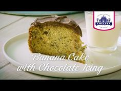 Banana Cake with Chocolate Icing