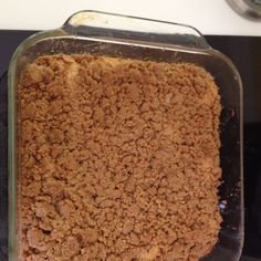 Vegan coffee cake. I should make this for my brother.
