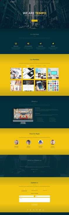 Tempo - One Page Creative Template